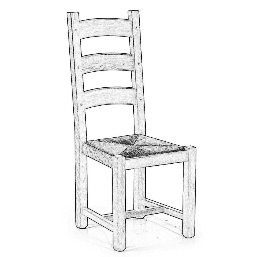 Sedia in legno grezzo #31RV | Sedie grezze da verniciare