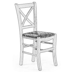 Sedia in legno grezzo #44 CR | Sedie grezze da verniciare