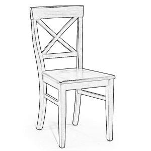 Sedia in legno grezzo #60 | Sedie grezze da verniciare