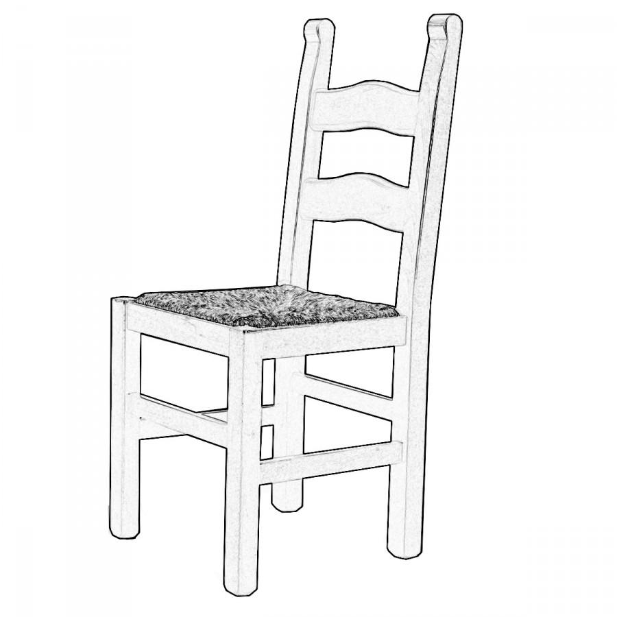 Sedia legno grezzo Rusticona | Sedie grezze da verniciare