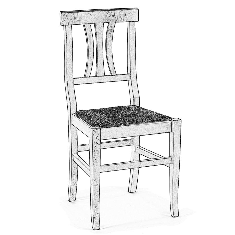 Eccezionale Sedia legno grezzo Arte Povera | Sedie grezze da verniciare RX84