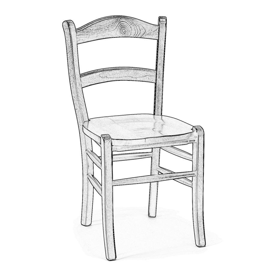 Sedia legno grezzo marocca sedie grezze da verniciare for Sedie cucina classiche