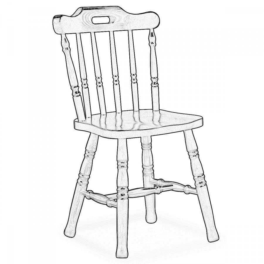 Sedia legno grezzo Monviso | Sedie grezze da verniciare