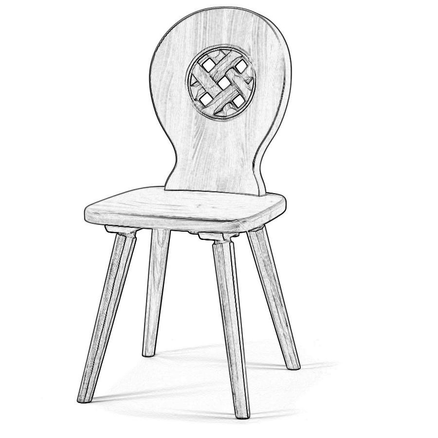 Sedia legno grezzo w5190 sedie grezze da verniciare for Verniciare legno grezzo